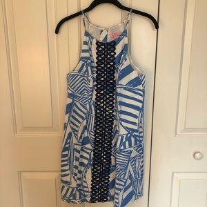 Lilly Pulitzer Shift Dress Sea Rope Lace Nautical